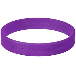 View a larger, more detailed picture of the Custom Silicone Bracelet - Low Qty