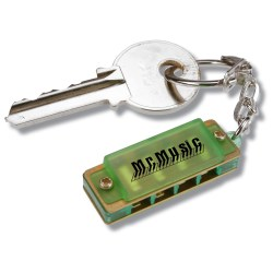 View a larger, more detailed picture of the Mini Harmonica Keychain - Translucent