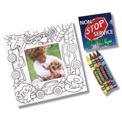 View a larger, more detailed picture of the Picture Me Coloring Magnet Frame - Cars