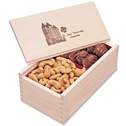 View a larger, more detailed picture of the Wooden Box with Turtles & Cashews