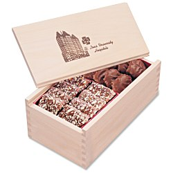 View a larger, more detailed picture of the Wooden Box with Toffee & Turtles