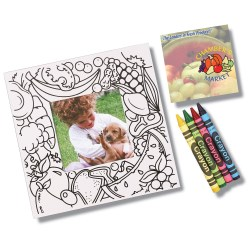 View a larger, more detailed picture of the Picture Me Coloring Magnet Frame - Food