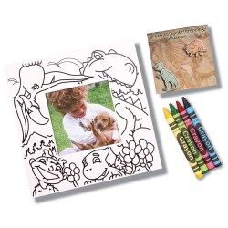 View a larger, more detailed picture of the Picture Me Coloring Magnet Frame - Dinosaurs