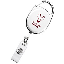 View a larger, more detailed picture of the Clip-On Retractable Badge Holder - Opaque