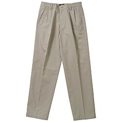 View a larger, more detailed picture of the Teflon Treated Pleated Twill Pants - Men s
