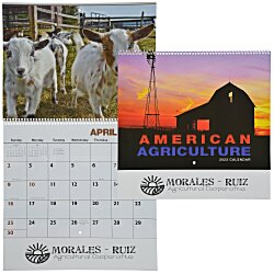 View a larger, more detailed picture of the American Agriculture Calendar - Spiral