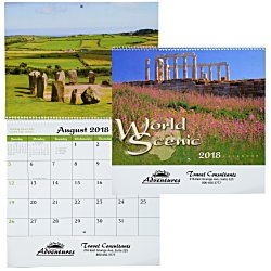 View a larger, more detailed picture of the World Scenic Calendar - Spiral