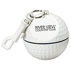 View a larger, more detailed picture of the Sport Ball with Rain Poncho - Golf Ball