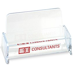 View a larger, more detailed picture of the Desktop Business Card Holder - Clear