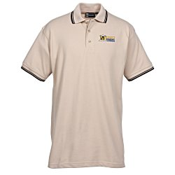 View a larger, more detailed picture of the Blue Generation Tipped Pique Polo - Men s