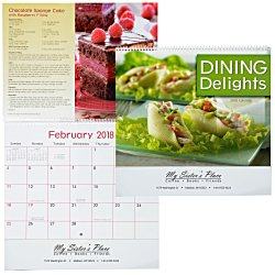 View a larger, more detailed picture of the Dining Delights Calendar - Spiral