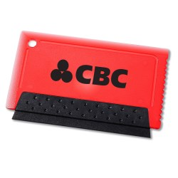 View a larger, more detailed picture of the Credit Card Size Squeegee Scraper - Closeout