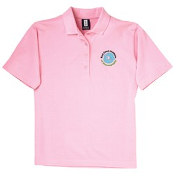 View a larger, more detailed picture of the 60 40 Blend Pique Sport Shirt - Ladies