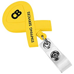 View a larger, more detailed picture of the Ribbon Retractable Badge Holder - Opaque