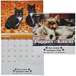 View a larger, more detailed picture of the Paws - Puppies & Kittens Calendar - Spiral