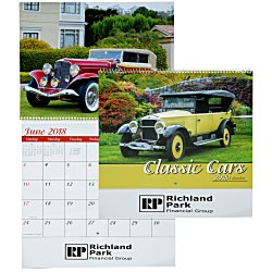 View a larger, more detailed picture of the Classic Cars Calendar - Spiral