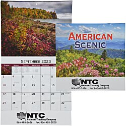 View a larger, more detailed picture of the American Scenic Appointment Calendar - Stapled - 24 hr