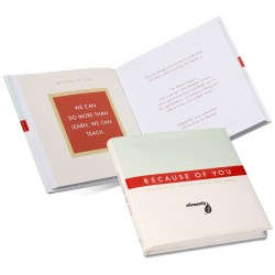 View a larger, more detailed picture of the Gift of Inspiration Book Because of You