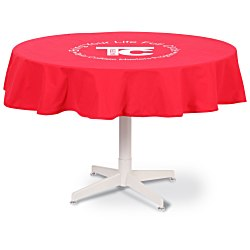 View a larger, more detailed picture of the Poly Cotton Table Throw - Round