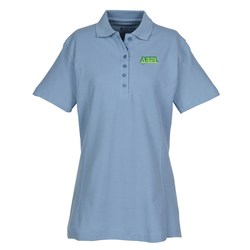 View a larger, more detailed picture of the 100 Combed Cotton Pique Sport Shirt - Ladies
