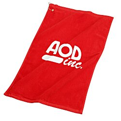 View a larger, more detailed picture of the Deluxe Hemmed Golf Towel - Colors