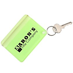 View a larger, more detailed picture of the Waterproof Wallet with Key Ring - Translucent