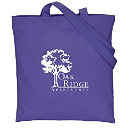 View a larger, more detailed picture of the Cotton Sheeting Colored Economy Tote - 15-1 2 x 15 - 24 hr