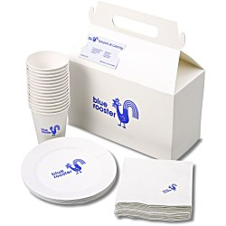 View a larger, more detailed picture of the Snack Pack - Paper Plate Cup and Napkin Set