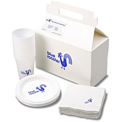 View a larger, more detailed picture of the Snack Pack - Plastic Plate Cup and Napkin Set