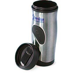 View a larger, more detailed picture of the Stainless Thumbprint Tumbler - 16 oz