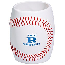 View a larger, more detailed picture of the Sport Can Holder - Baseball