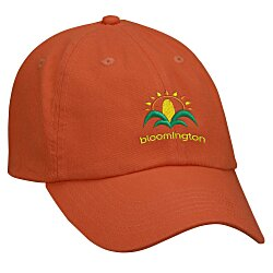 View a larger, more detailed picture of the Bio-Washed Cap - Solid - Embroidered