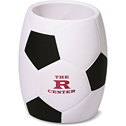 View a larger, more detailed picture of the Sport Can Holder - Soccer