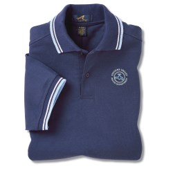 View a larger, more detailed picture of the Stripe Collar Trim Pique Polo - Men s