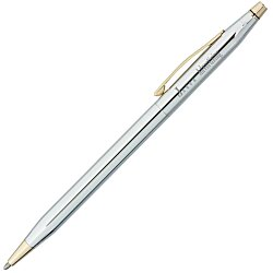 View a larger, more detailed picture of the Cross Century Classic Twist Pen - Gold Trim - Chrome