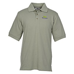View a larger, more detailed picture of the Profile 60 40 Blend Pique Polo - Men s