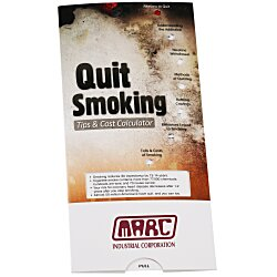 View a larger, more detailed picture of the Quit Smoking Tips & Cost Calculator Pocket Slider