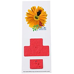 View a larger, more detailed picture of the Plant-A-Shape Flower Seed Bookmark - Cross