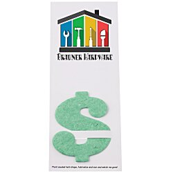 View a larger, more detailed picture of the Plant-A-Shape Herb Garden Bookmark - Dollar Sign