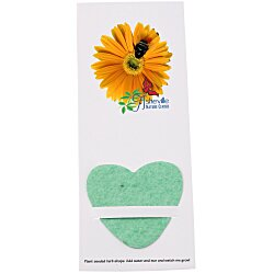 View a larger, more detailed picture of the Plant-A-Shape Herb Garden Bookmark - Heart