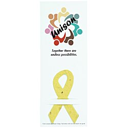 View a larger, more detailed picture of the Plant-A-Shape Flower Seed Bookmark - Awareness