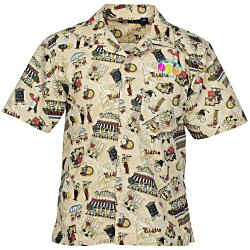 View a larger, more detailed picture of the Tropical Print Camp Shirt