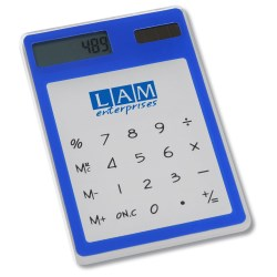 View a larger, more detailed picture of the Sleek-n-Slim Clear Calculator