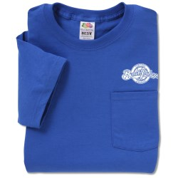 View a larger, more detailed picture of the Fruit of the Loom Best 50 50 Pocket T-Shirt - Colors