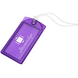 View a larger, more detailed picture of the Explorer Luggage Tag - Translucent