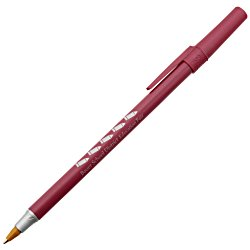 View a larger, more detailed picture of the Bic Round Stic Pen - Metallic