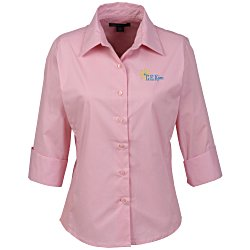 View a larger, more detailed picture of the Easy Care 3 4 Sleeve Stretch Poplin Blouse - Ladies