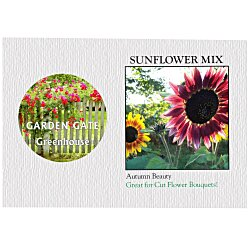 View a larger, more detailed picture of the Impression Series Seed Packet - Sunflower Mix