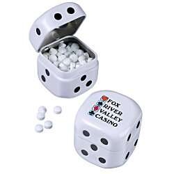 View a larger, more detailed picture of the Roll-of-the-Dice Tin w Micro Mints - Sugar Free