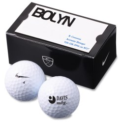 View a larger, more detailed picture of the Nike Power Soft 2-Golf Ball Business Card Box